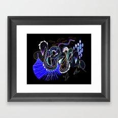 Two Headed Funhouse Framed Art Print