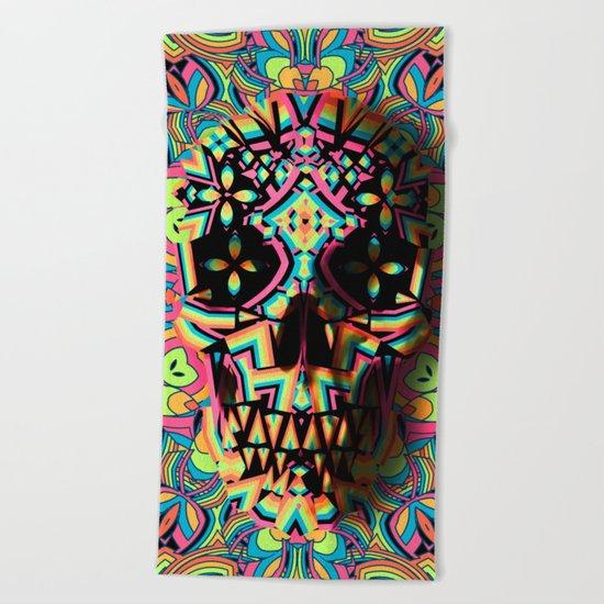 Fancy Skull Beach Towel