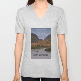 Parc National de la Mauricie Unisex V-Neck