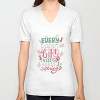 paper towns V-neck T-shirts featuring Paper Towns: Paper Girl by Risa Rodil
