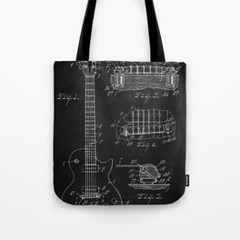 Gibson Guitar Patent Les Paul Vintage Guitar Diagram Tote Bag