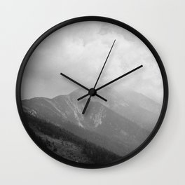 Rolling thunder at Monte Baldo | Travel Photography Italy | Fine art photo print | Wall Clock