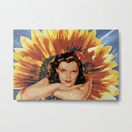 Miss Sunflower Metal Print