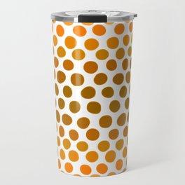 Burnt Honey Gold Amber Ombre Dots Travel Mug