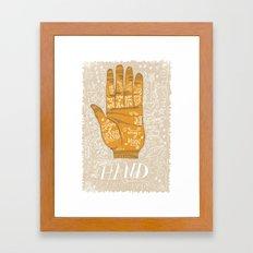 THE PALM READER Framed Art Print