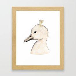 Swan Kid Framed Art Print