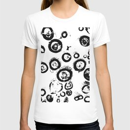 """""""Patterns of Nature""""  Logs in Black and White at Veroce, Hungary T-shirt"""