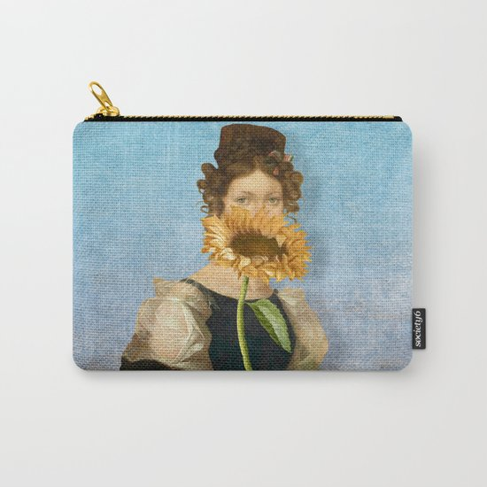 Girl with Sunflower 1 Carry-All Pouch