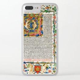 Illuminated Manuscript Clear iPhone Case