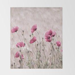 Poppy Pastell Pink Throw Blanket