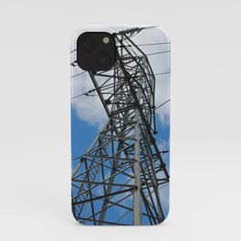 Blue Skies and Electrical Power iPhone Case