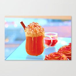 Caramel Apple Cider with Whipped Cream Canvas Print