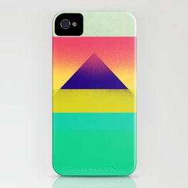 Purple Pyramid iPhone Case