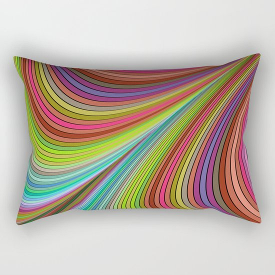 Happy curves Rectangular Pillow