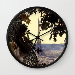 Patterns of Places - Eiffal Tower, Paris Wall Clock