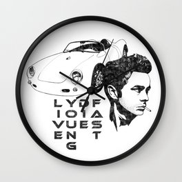 Live Young Die Fast Wall Clock