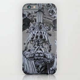 Sedlec Ossuary Chandelier Photo Art, Skull Bone Church iPhone Case
