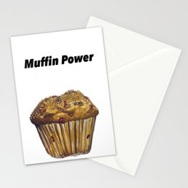 """""""Muffin Power"""" Muffin greeting card Stationery Cards"""
