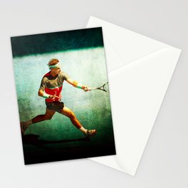 Nadal Tennis Forehand Stationery Cards