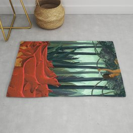 Red Dogs Rug