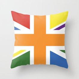 RAINBOW PRIDE UK FLAG LBGT LBGT+ LBGTQB+ Throw Pillow