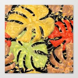 PALM LEAF BOUNTY AUTUMN SPLENDOR Canvas Print