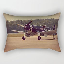 Air Craft - WWII-era fighter, Corsair Rectangular Pillow
