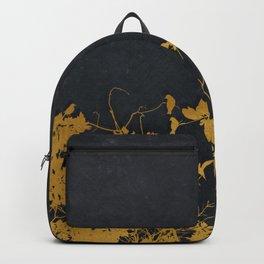 gold and black floral #goldblack #floral Backpack