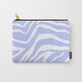 ZEBRA PURPLE AND WHITE ANIMAL PRINT Carry-All Pouch