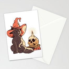 halloween katzeHalloween cat horror kitten halloween costume Stationery Cards