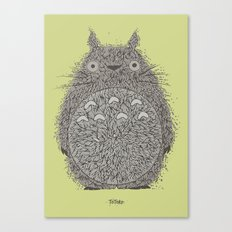 Avocado Totoro Canvas Print