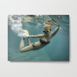 And in that Moment you are a Mermaid Metal Print