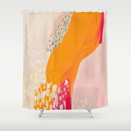 The Abstract Shape Of Spring Shower Curtain
