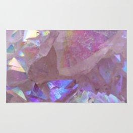 Pink Aura Crystals Rug