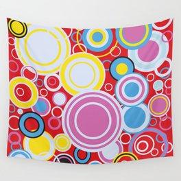Pop Art Colour Circles Wall Tapestry