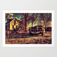 mercedes Art Prints featuring Cele Mercedes by Flashbax Twenty Three
