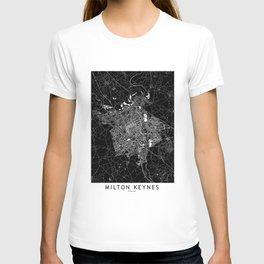 Milton Keynes Black And White Map T-shirt