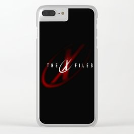 SCULLY MULDER LOGO Clear iPhone Case