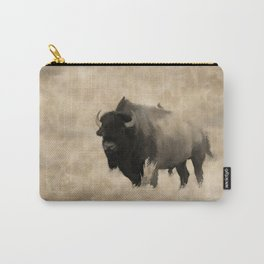 American Buffalo  -  Plains Bison Carry-All Pouch