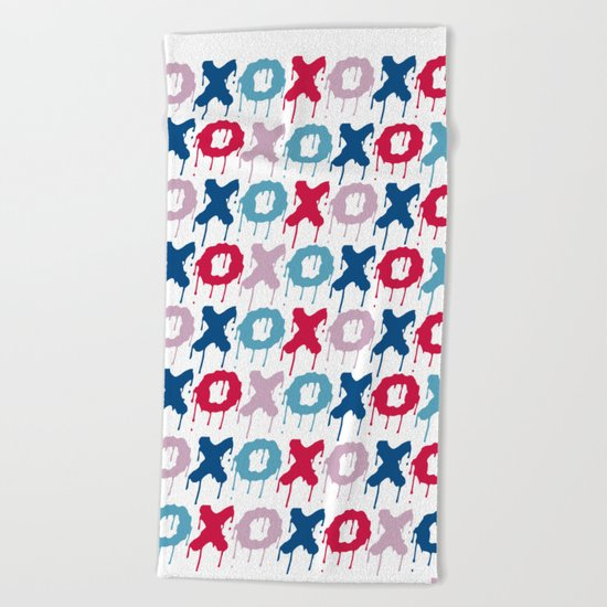 X O PATTERN  Beach Towel