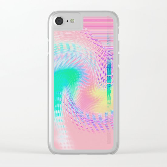 Distorted signal 03 Clear iPhone Case