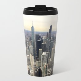Chicago Skyline - Color Photograph Travel Mug