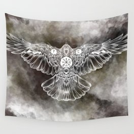 Raven of Fate (colore) Wall Tapestry