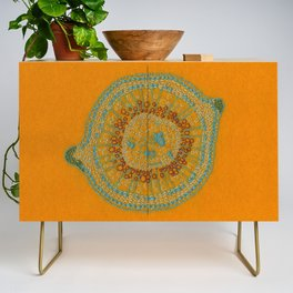 Growing - hypericum - plant cell embroidery Credenza