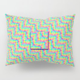 Pixelated colored squares background Pillow Sham