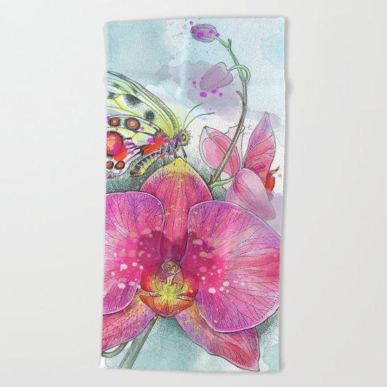 Orchids 03 Beach Towel