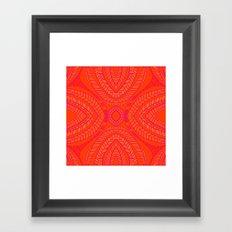 Orange Leaves Pattern Framed Art Print