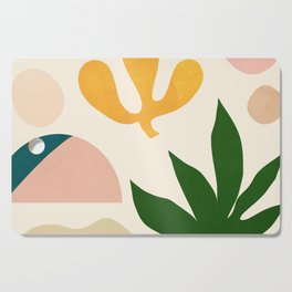 Abstraction_Floral_001 Cutting Board