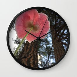 Poppy Perspective Wall Clock