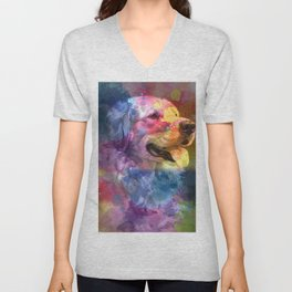 Paint Your Dog Unisex V-Neck